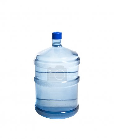 Big bottle of water isolated on white background...