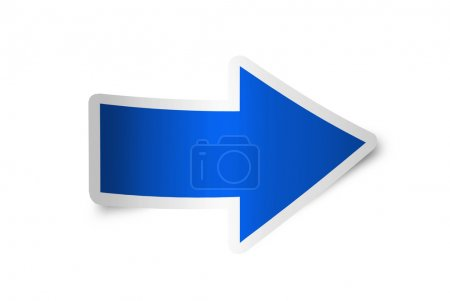 Photo for Right arrow icon blue, isolated - Royalty Free Image