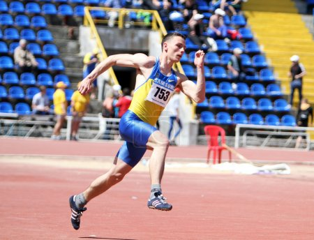 Cherkasenko Andriy compete in the high jump competition