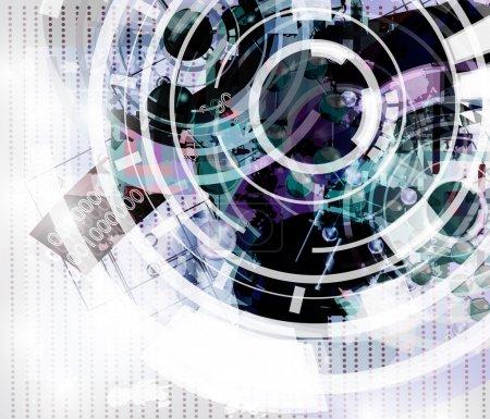 Illustration pour Fond abstrait de haute technologie - image libre de droit