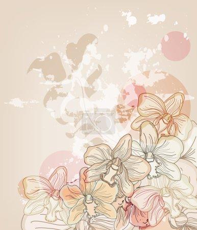 Artistic orchid postcard