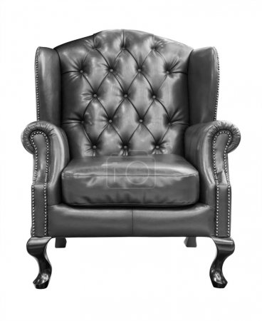 Black luxury armchair isolated with clipping path