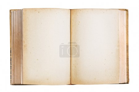 Old book isolated clipping path.