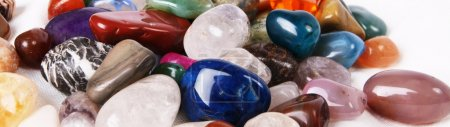 Brightly colored natural stones...