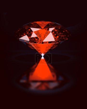 Ruby / Topaz / Garnet on black reflective backgrou...