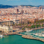 Barcelona skyline, Sagrada Familia is visible....