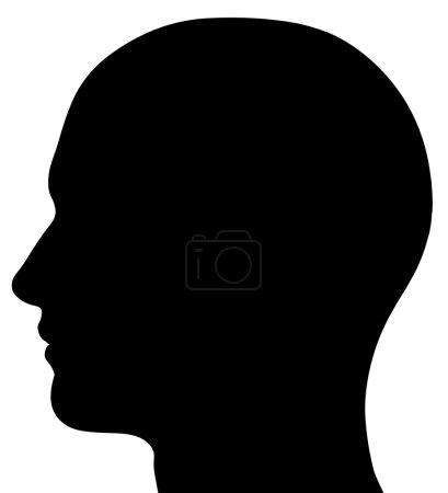Photo pour Un rendu d'une silhouette de tête masculine. isolé sur fond blanc solid. - image libre de droit