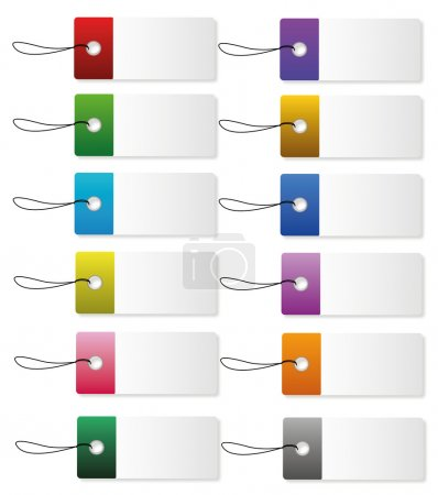 Coloured Label icons where you can insert your own...
