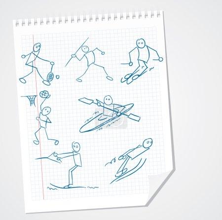 Funny Sport Doodle