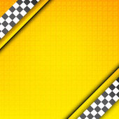 Racing orange background taxi cab cover template
