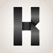 Letter metal ribbon - K