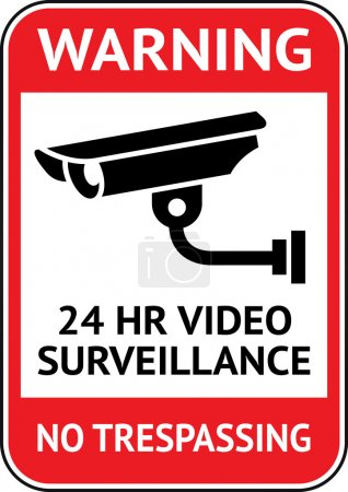 Video surveillance, cctv label
