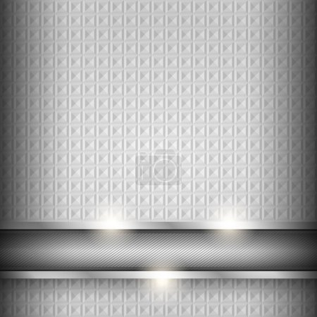 Illustration for Metal surface, iron texture background, vector design element - Royalty Free Image