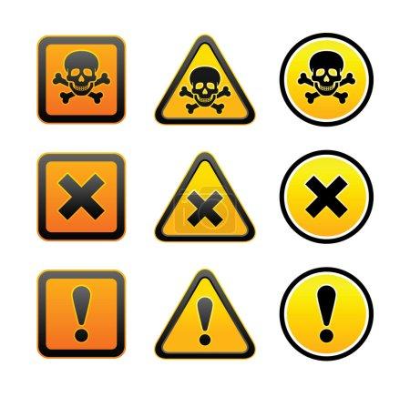 symboles d'avertissement de danger, la valeur