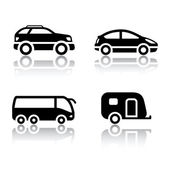 Set of transport icons - vehicles Vector design