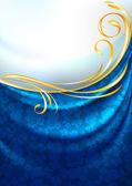 Tkaniny záclony, pozadí, zlatý medailónek, eps vektorové 10