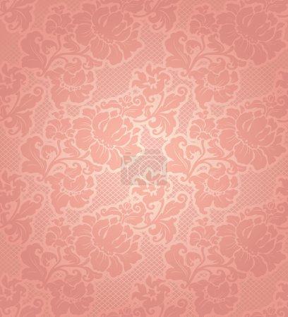 Lace background, ornamental beige flowers wallpaper