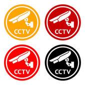 CCTV pictogram set symbol security camera
