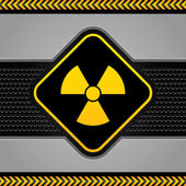 Radioactive symbol abstract background industrial template