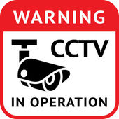 Warning Sticker for Security Alarm CCTV Camera Surveillance
