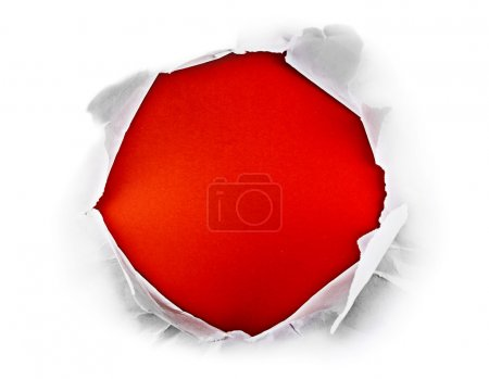 Red hole.