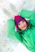 Young beautiful woman wearing winter