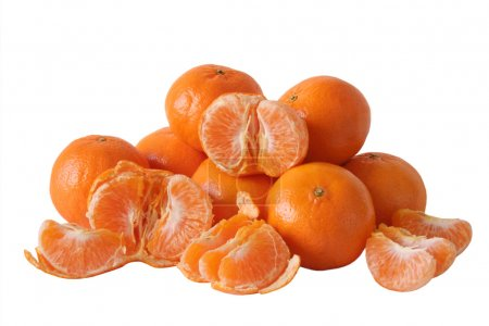 Mandarinen auf Weiß