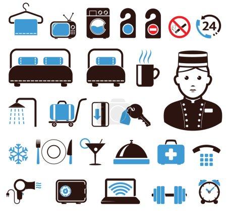 Foto de Sistema de iconos del Hotel - Imagen libre de derechos