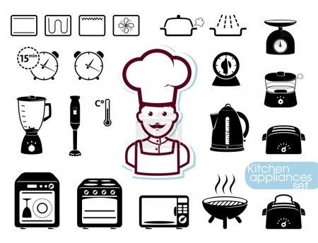 Photo pour Divers appareils ménagers et ustensiles de cuisine - image libre de droit