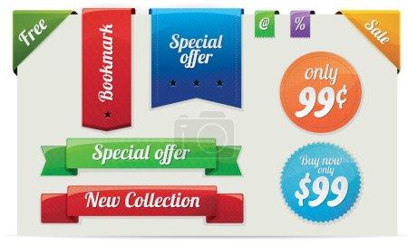 Foto de Colección de venta y anuncio de pegatinas, etiquetas, marcadores - Imagen libre de derechos
