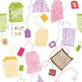 Various colorful tea bags print