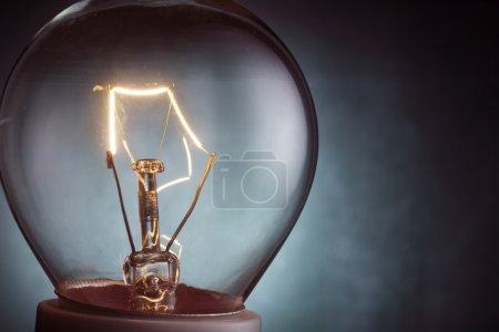 Photo for Stock image close up of the light bulb illuminated - Royalty Free Image