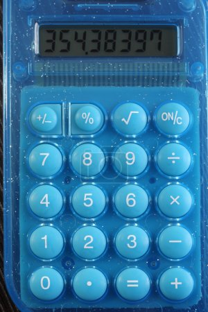 Close up of the numbers on the calculator