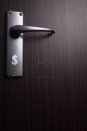 Stock image of the door handle
