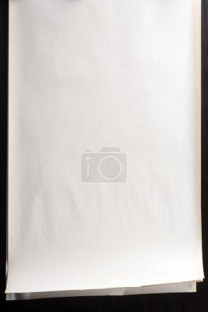 Photo pour Image en stock de pile de papier blanc avec bord de curling - image libre de droit
