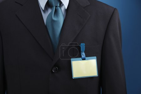Photo for Person with name tag on chest. - Royalty Free Image