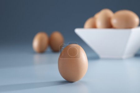 Photo for Some eggs on the background. - Royalty Free Image