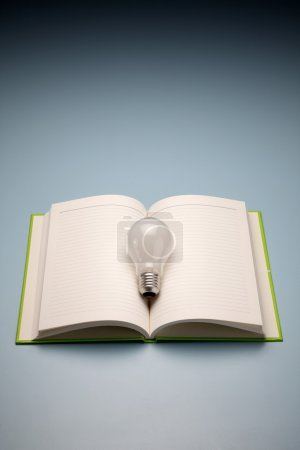 A book and lamp