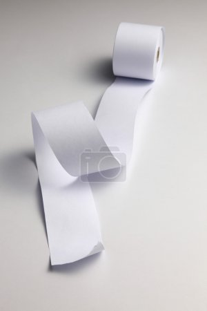 Loosen paper from roll of the paper on the plain b...
