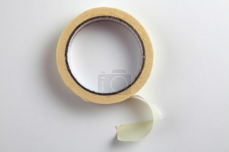 Photo for Close up of the masking tape on the plain background - Royalty Free Image