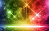 Colorful light show Multicolored light effects background for any magical event full of energy Space for you message EPS10