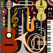 Abstract colored music instruments, full scalable ...