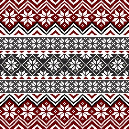 Nordic snowflake pattern