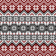Nordic traditional pattern with snowflakes, white,...
