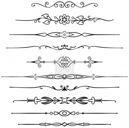 Illustration for Ten different page rules for elegant design - Royalty Free Image