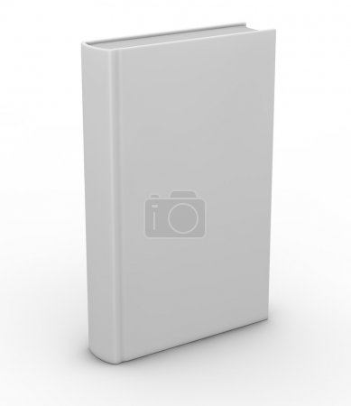 Photo for One white book with space for custom text or image (3d render) - Royalty Free Image