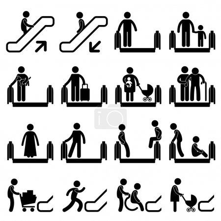 A set of pictogram showing a set of artwork relate...