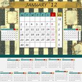 Měsíční kalendář 2012 - všechny měsíce v sadě