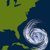 An image of a hurricane off the east coast of the united states