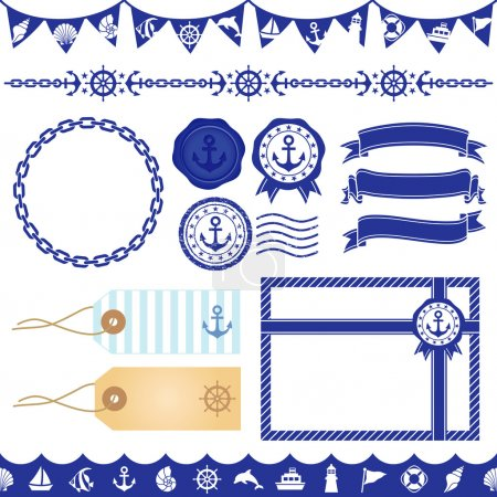 Marine decoration illustration